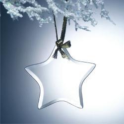 BEVELED JADE GLASS STAR ORNAMENT