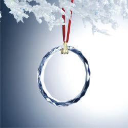 OPTIC CRYSTAL GEM CUT ROUND ORNAMENT