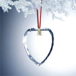 OPTIC CRYSTAL GEM CUT HEART ORNAMENT