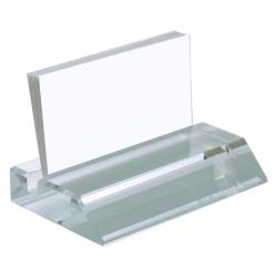 CLEAR GLASS BUSINESS CARD HOLDER