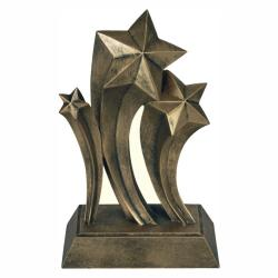 GOLD RISING STAR RESIN TROPHY