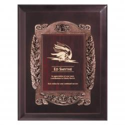 9 X 12 BRONZE FINISH EURO PLAQUE