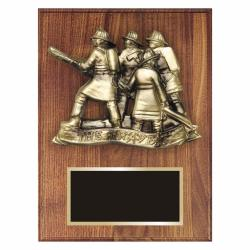 WALNUT FIREFIGHTER PLAQUE