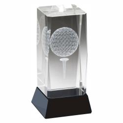 3-D CRYSTAL GOLF AWARD