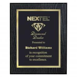 BLACK OAK FINISH PLAQUE