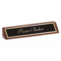 WALNUT PIANO FINISH NAMEPLATE