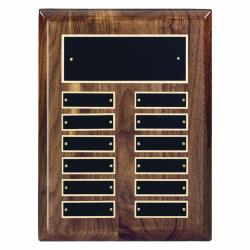 9 X 12 HIGH GLOSS WALNUT PERPETUAL PLAQUE