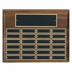 13 X 10.5 HIGH GLOSS WALNUT PERPETUAL PLAQUE