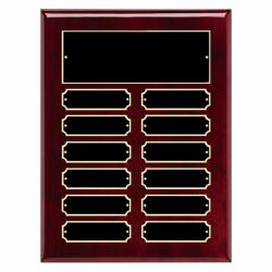 9 X 12 HIGH GLOSS ROSEWOOD PERPETUAL PLAQUE