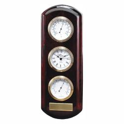 ROSEWOOD FINISH WEATHER STATION