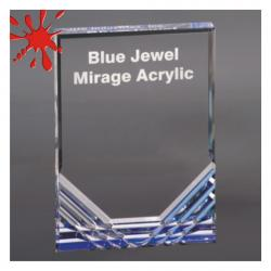 BLUE JEWEL MIRAGE ACRYLIC