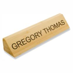 NATURAL BAMBOO NAMEPLATE