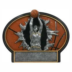 BASKETBALL (FEMALE) BURST THRU RESIN