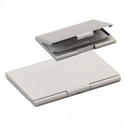 MATTE SILVER BUSINESS CARD HOLDER