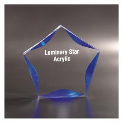 BLUE LUMINARY STAR ACRYLIC