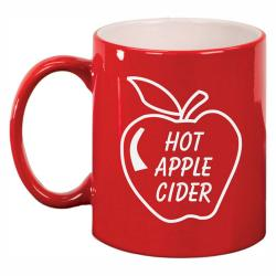 11oz RED CERAMIC MUG