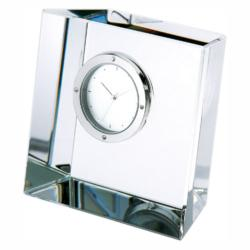 SLANT BLOCK CRYSTAL CLOCK