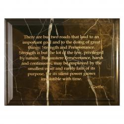 CHOCOLATE BROWN MARBLE PLAQUE