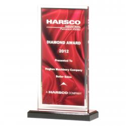 ACRYLIC RED DRAPED IMAGE AWARD
