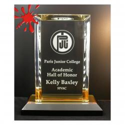 BEVELED RECTANGLE ACRYLIC AWARD
