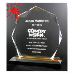 BEVELED OCTAGON ACRYLIC AWARD