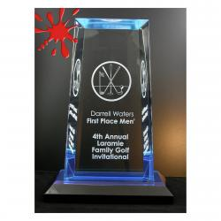 TAPERED RECTANGLE ACRYLIC AWARD