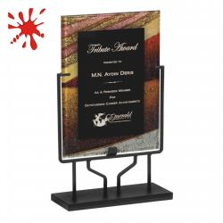 AUTUMN HARVEST ACRYLIC ART PLAQUE WITH STAND