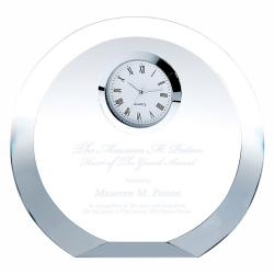 CRYSTAL CIRCLE SILVER CLOCK