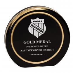 BLACK/GOLD RING AURORA ACRYLIC