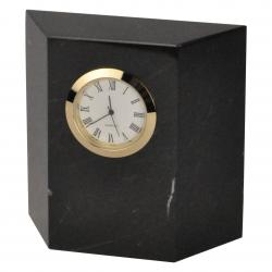BLACK MARBLE TRAPEZOID CLOCK