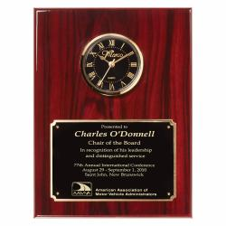 ROSEWOOD PIANO FINISH WALL CLOCK