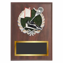 LAX PLAQUE WITH RESIN RELIEF