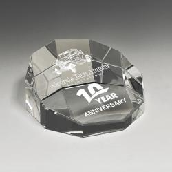 CRYSTAL DECAGON PAPERWEIGHT