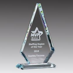 CLEAR GLASS DIAMOND AWARD